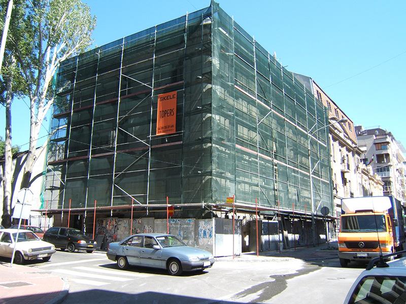 Iznajmljivanje ramovskih fasadnih skela