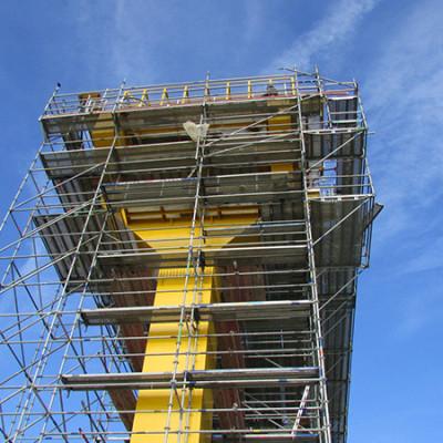 Montaza cevnih gradjevinskih skela
